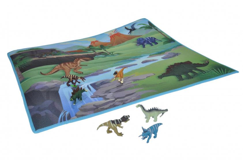 Wild Republic speelmat dino junior 37 x 87.5 cm textiel groen