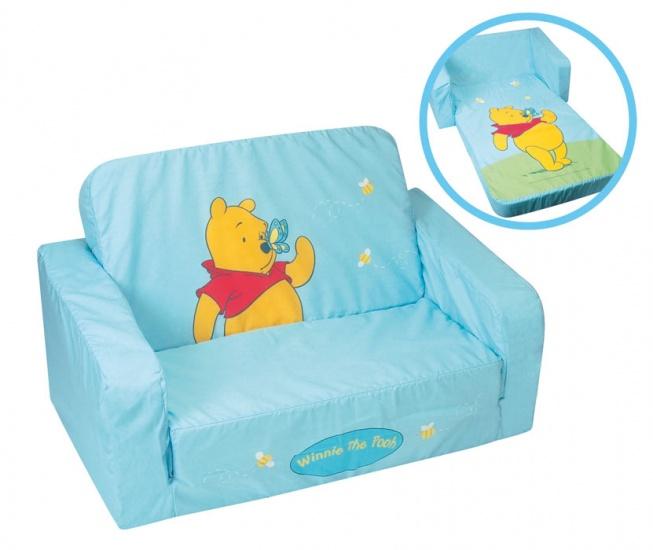 Winnie The Pooh Bedbank uitklapbaar 69 x 42 cm lichtblauw