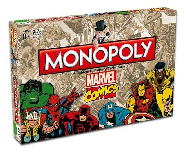 Winning Moves Monopoly Marvel Comics Retro