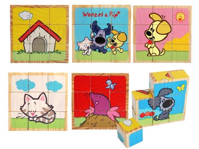 Woezel en Pip Blokpuzzel 9 Stukjes