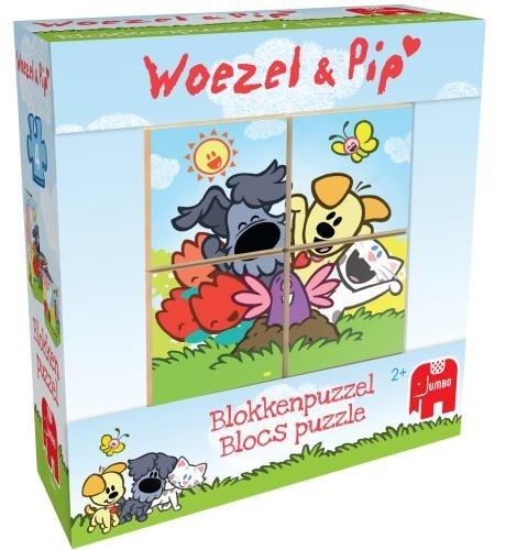 Woezel en Pip Puzzel Kubus 4 Stukjes