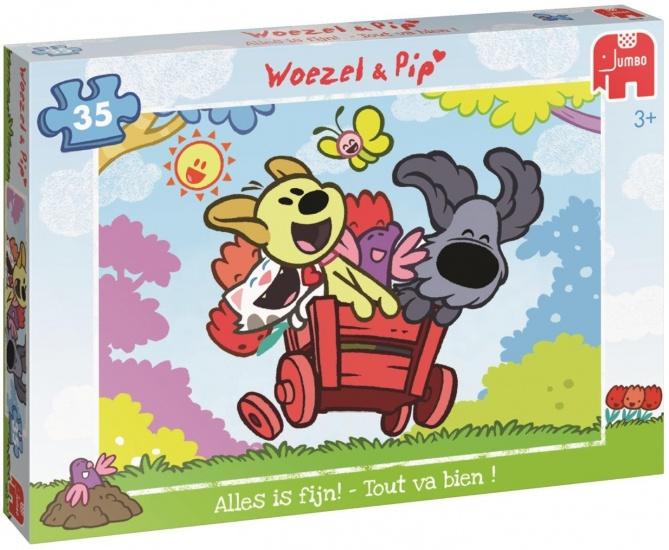 Woezel en Pip Puzzel Woezel & Pip: Alles is fijn 35 stukjes