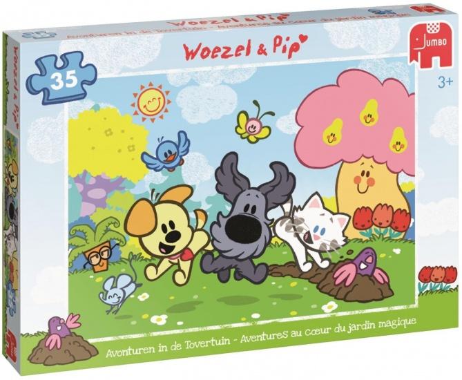Woezel en Pip Puzzel Woezel & Pip: Tovertuin 35 stukjes
