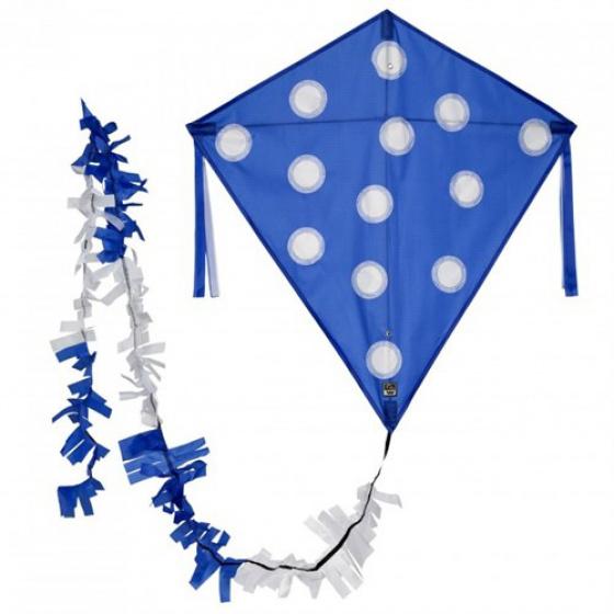 Wolkenstürmer vlieger Eddy Dots 75 cm polyester blauw 3 delig