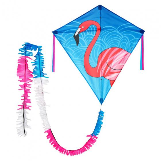 Wolkenstürmer vlieger Eddy Flamingo 75 cm blauw 3 delig
