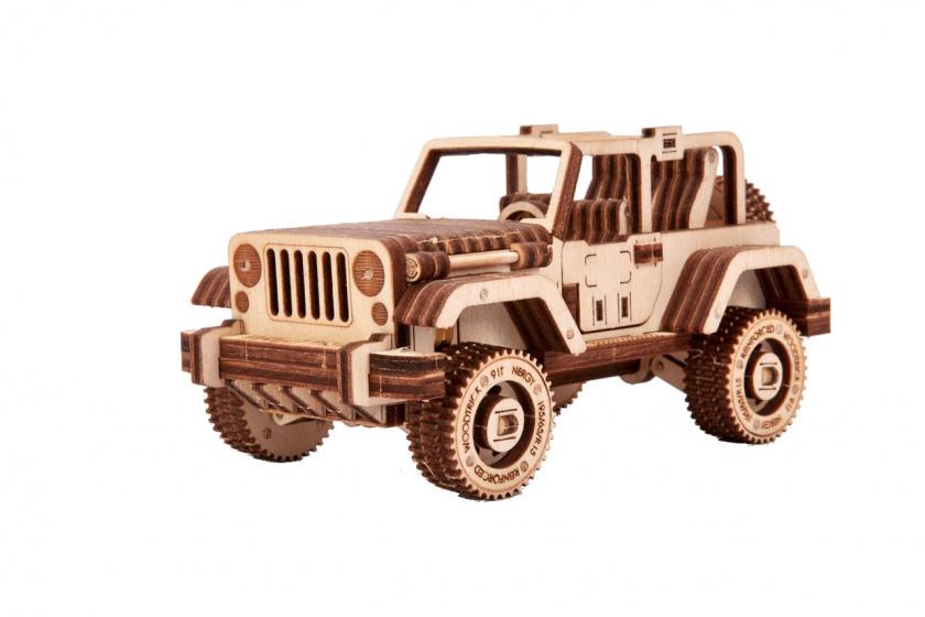 Wood Trick houten modelbouw 3D Safari 18,5 cm blank 126 delig