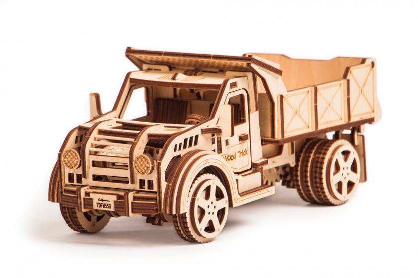 Wood Trick houten modelbouw 3D Truck 20 cm blank 215 delig