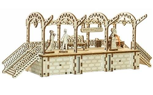 Wooden City Houten 3D puzzel perron 36 cm