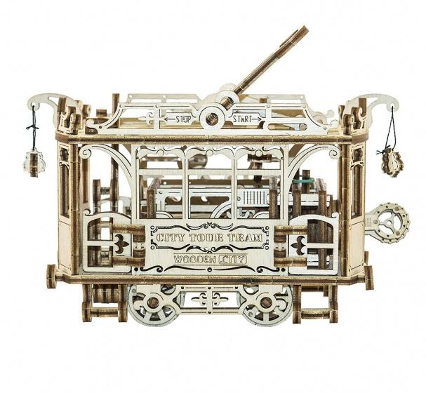 Wooden City Houten 3D puzzel stadstram 18 cm