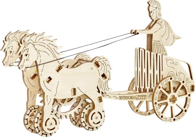 Wooden City Houten 3D puzzel Romeinse strijdwagen 22 cm