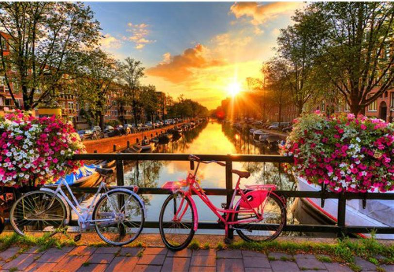 Wooden City legpuzzel Bicycles of Amsterdam hout 300 stukjes