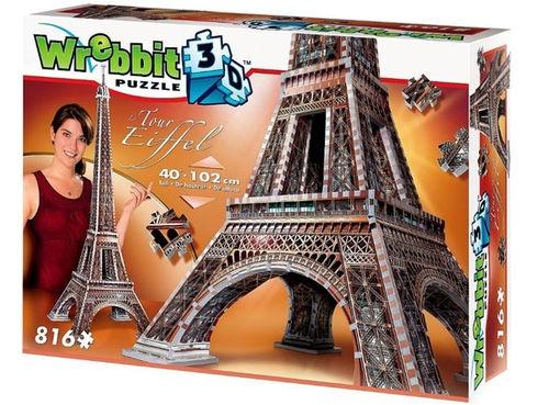 Wrebbit Eiffeltoren 3D puzzel 816 Stukjes