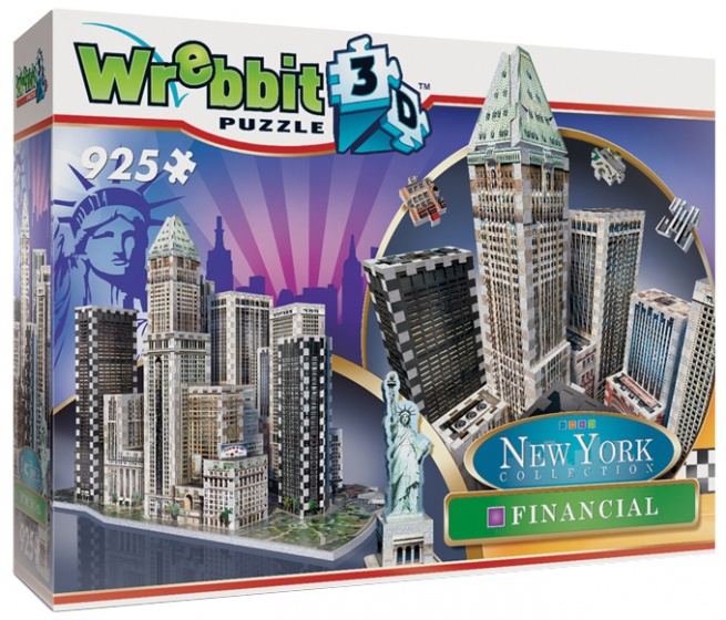 Wrebbit 3D puzzel New York downtown Financial 925 stukjes