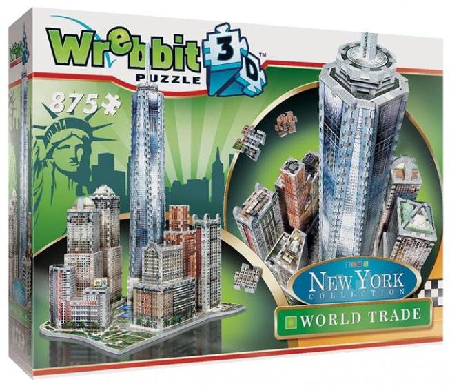 Wrebbit 3D puzzel New York downtown Trade Center 875 stukjes