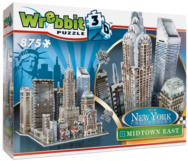 Puzzel New York Midtown East 3d: 875 stukjes