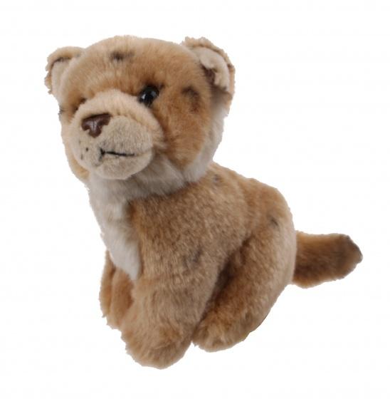 WWF knuffel leeuwenwelp 14 cm bruin