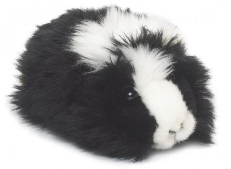WWF pluchen knuffel cavia 19 cm zwart/wit