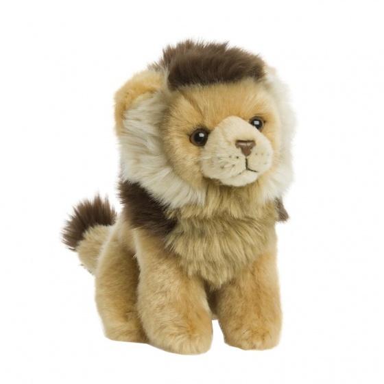 WWF pluchen knuffel leeuw 15 cm bruin