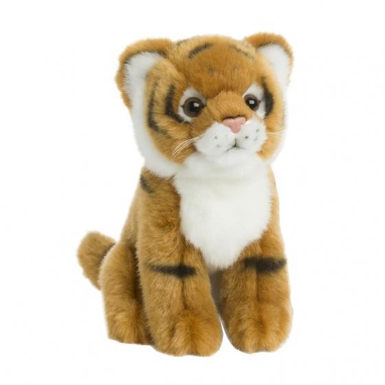 WWF pluchen knuffel tijger 15 cm bruin