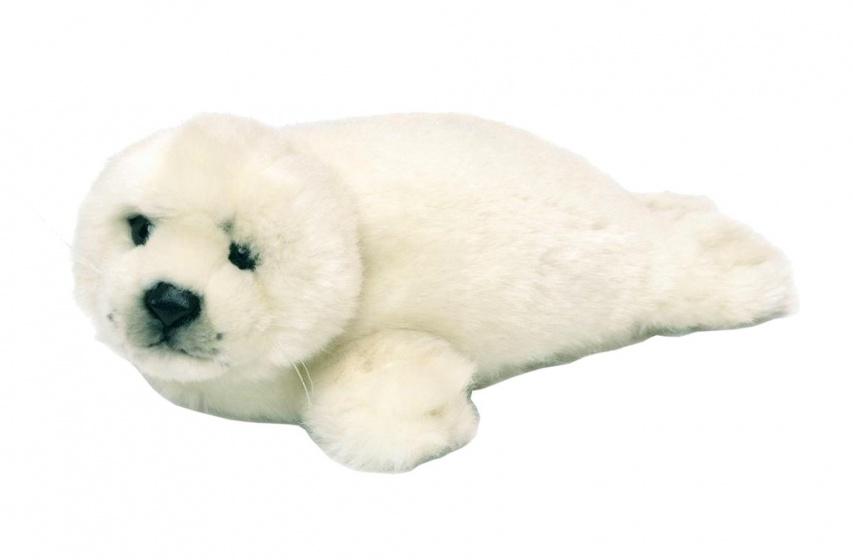 WWF pluchen knuffel zeehond 24 cm wit