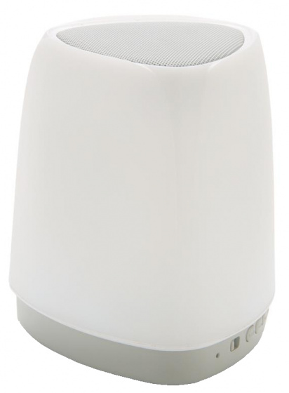 XD Collection speaker bluetooth led 11,5 cm staal zilver 2 delig