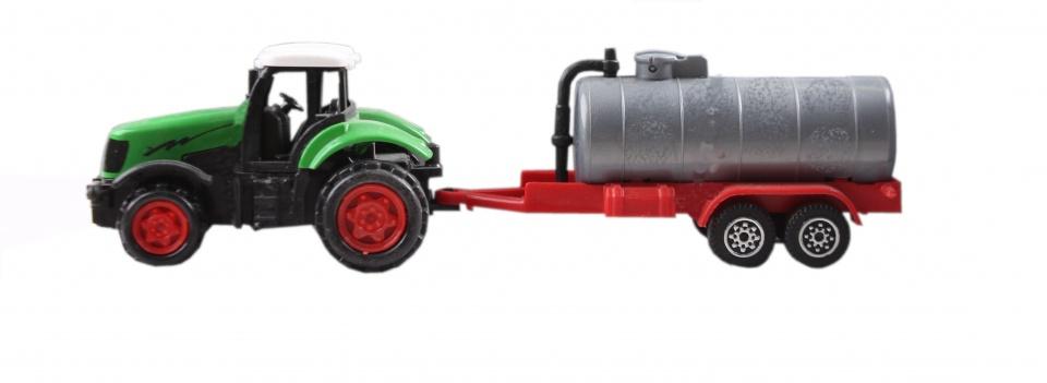 XIN YU Toys tractor met gierton 16,5 cm groen