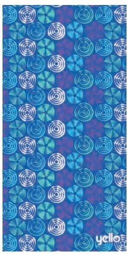Yello badlaken swirl: 75 x 150 cm