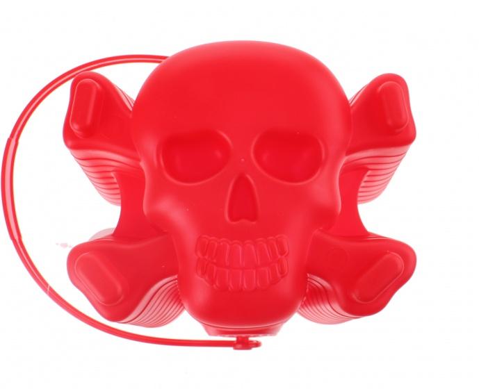 Yello speelemmer doodshoofd 18 x 19 cm rood