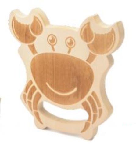 Yello krabbenvanger junior 14 x 2,1 cm hout/jute naturel