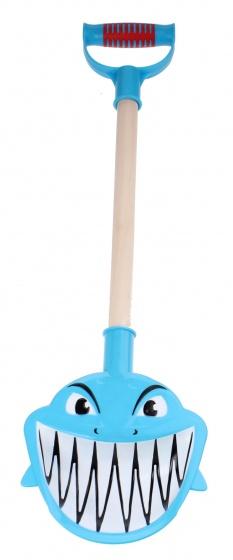 Yello schep Haai kunststof/hout blauw 48 cm