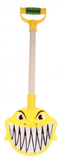 Yello schep Haai kunststof/hout geel 48 cm