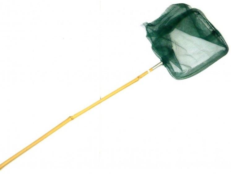 Yello schepnet met bamboesteel groen 140 cm