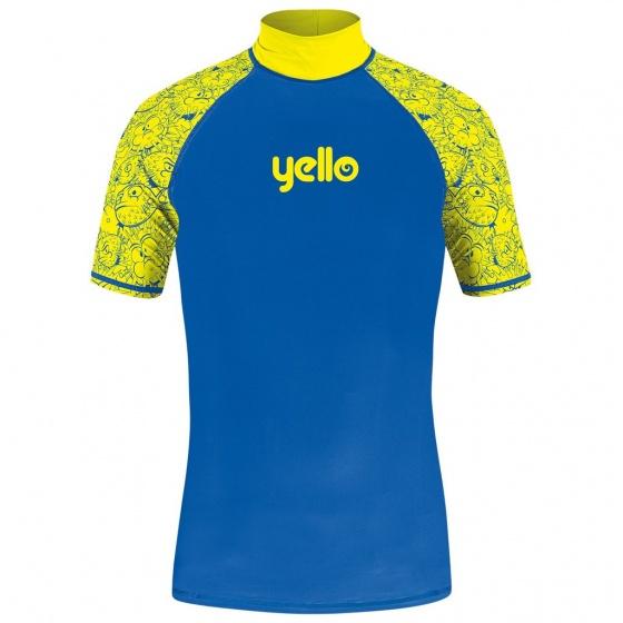 Yello UV werend shirt blowfish jongens blauw/geel maat XS