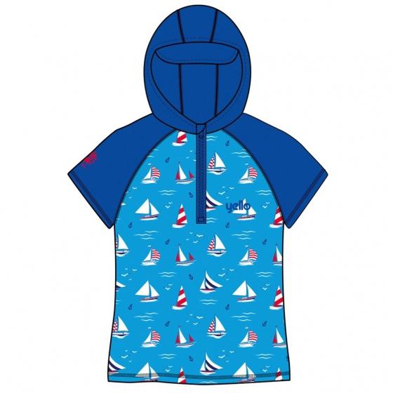 Yello UV werende hoodie sailboat junior blauw 4 5 jaar