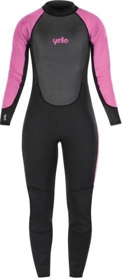 Yello wetsuit Basking 2 mm meisjes zwart/roze maat MT