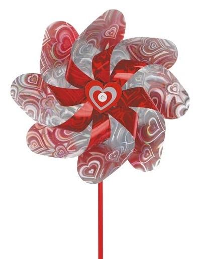 Yello windmolen bloem rood 20 cm