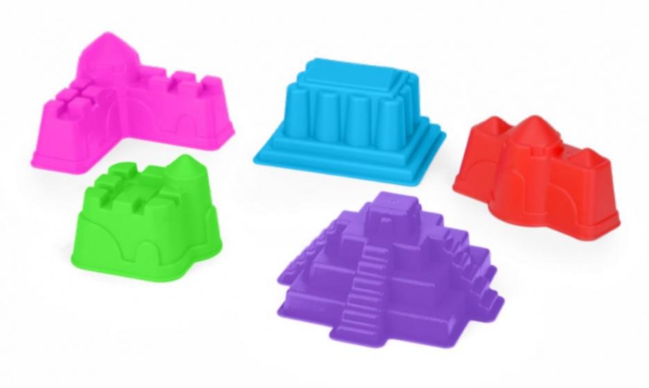Yello zandvormenset gebouwen 15 cm multicolor