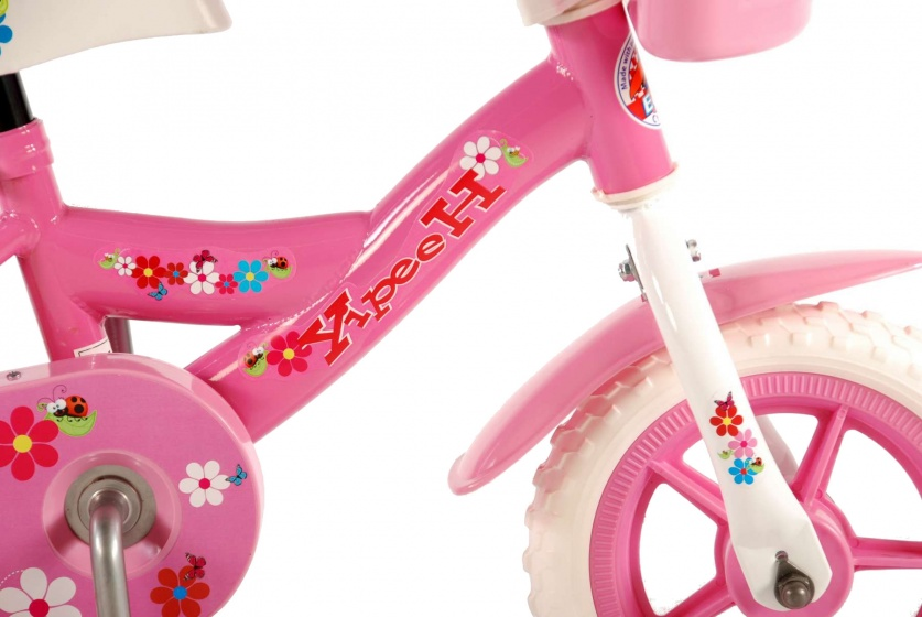 Flowerie 10 Inch 18 cm Girls Fixed Gear Pink