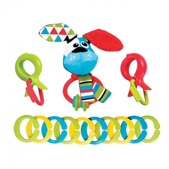 Yookidoo rammelaar Clips Rattle 'N' Links Hond 13 cm