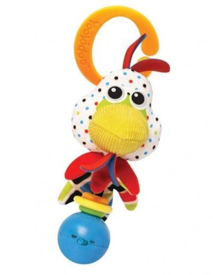 Yookidoo rammelaar Shake Me Rattle Rooster 16 cm pluche