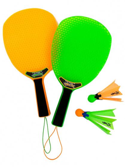 Yulu tennisspel Helix oranje/groen/zwart 4 delig