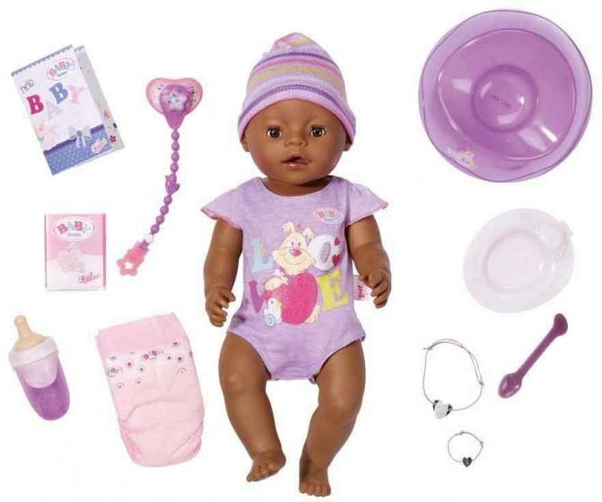 BABY born interactieve pop met 9 functies paars