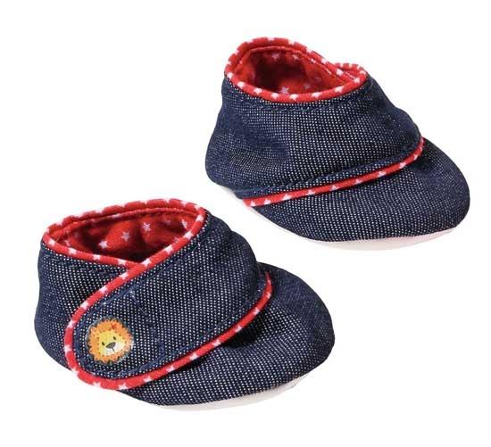Zapf Creation Dolly Moda Babyschoentjes blauw 2 stuks