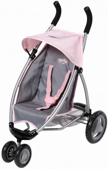 Zapf Creation Baby Born Buggy grijs/roze