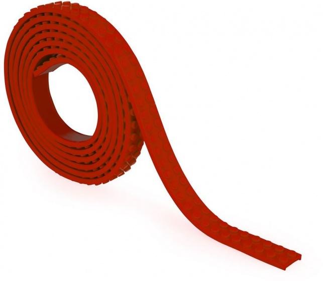 Zuru bloktape tweebloks 200 cm rood