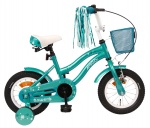 AMIGO Flower 12 Inch 21,5 cm Girls Coaster Brake Turquoise