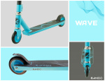 AMIGO Wave stuntstep Junior Foot brakes Blue/Black