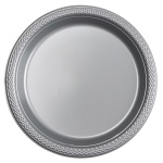 Amscan party plates silver 17,7 cm 10 pieces