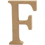 Creotime wooden letter F 8 cm