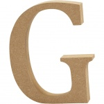 Creotime wooden letter G 8 cm